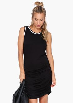 Knights Jersey Dress in Black | Necessary Clothing