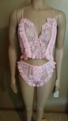 ALANA GALE Pink Lingerie Size M 100% Nylon 2 Pc. #AlanaGale #Sexy