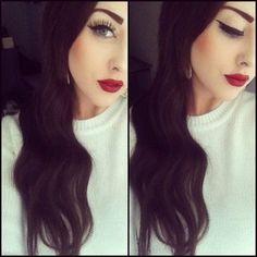 Finally oh lord thank u this makeup is wereable! Fiesty Pin up Girl Makeup:: Vintage Makeup:: Pin Up Girl Eyeliner:: Pin Up Makeup