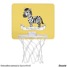 Cute zebra cartoon mini basketball backboard