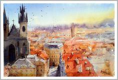 "Amit Kapoor, Prague, 22""X15"""