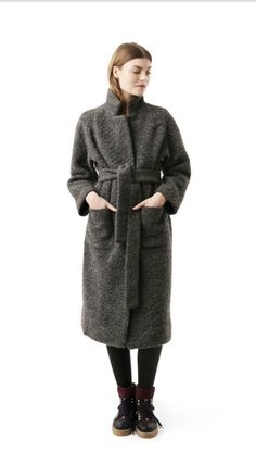 Ganni wrap coat