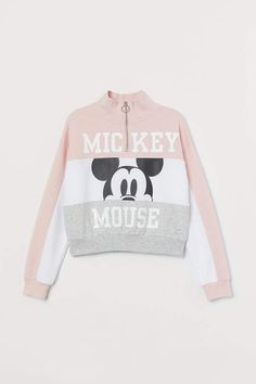 Aesthetic Patterns Discover Stand-up-collar Sweatshirt - Powder pink/Mickey Mouse - Kids Cute Disney Outfits, Disneyland Outfits, Cute Casual Outfits, Trendy Hoodies, Cute Sweatshirts, Cute Shirts, Girls Fashion Clothes, Teen Fashion Outfits, Outfits For Teens