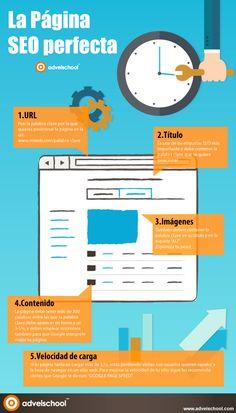 La página #SEO perfecta. Infografía en español. #CommunityManager