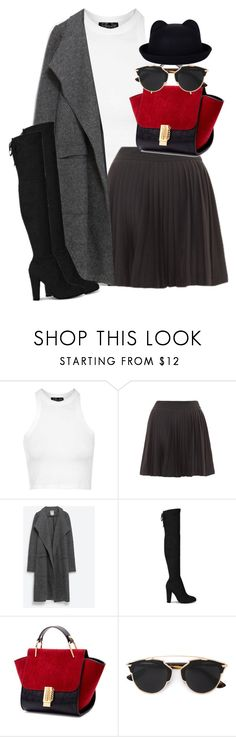 """""""Untitled #1776"""" by itsmeischoice on Polyvore featuring Topshop, Zara, Christian Dior, women's clothing, women, female, woman, misses and juniors"""