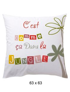 Pillowcase or Bolster Case JUNGLE PARTY