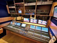 ADAM S3A speakers inside broadcast van
