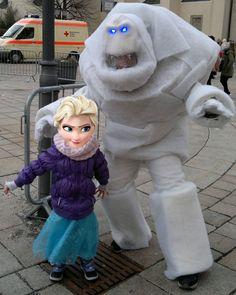 Frozen Eiskönigin Marshmallow Schneemonster Kostüm Cosplay Elsa Anna Olaf