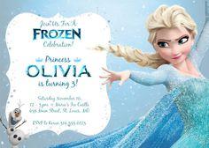 Frozen Birthday Invitation Personalized Printable