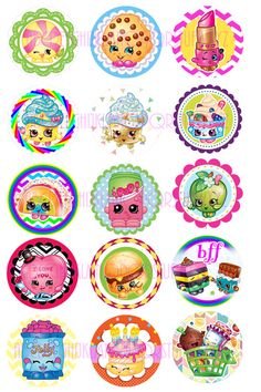 SHOPKINS INSTANT DOWNLOAD jpg Bottle Cap by TheRibbonObsession