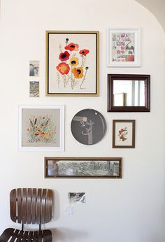 Artwork, mirrors- lovely wall collage #homedecor