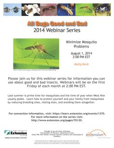 Learn how to minimize mpsquito problems with this webinar, part of the All Bugs Good and Bad Webinar Series brought to you by eXtension. Kill Fire Ants, Prime Time, How To Protect Yourself, Late Summer, Bugs, Minimalism, Learning, Beetle, Study