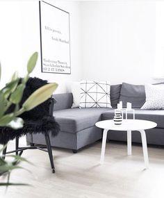 Scandinavian living room with IKEA FRIHETEN corner sofa bed