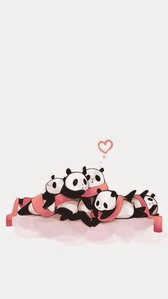Cute Pandas Iphone Wallpaper 3