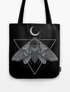 Tote Bag Occult Moth by Deniart