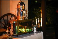 """We're doing a Coffee Bar for the reception...I'm so tired of the cliched """"candy bar."""" This gives guests an option outside of liquor or black coffee, and keeps the party going late into the night!!"""