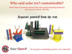 Separate yourself from the rest. Clam, Solar Panels, Separate, Bookends, Rest, Sun Panels, Solar Power Panels, Pull Apart, Sons