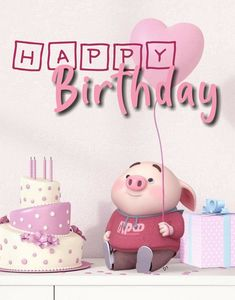 Here We Have A Birthday Wishing quotes And Images Best Artilce On Happy Bday To Girlfriend Happy Birthday Funny Dog, Cute Birthday Wishes, Birthday Wishes Greetings, Happy Birthday Celebration, Happy Birthday Girls, Happy Birthday Messages, Pig Birthday, Happy Birthday Quotes, Happy Birthday Images