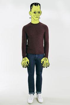 Frankenstein's monster wear's Topman jumper and jeans - illustration by Nathan James Page