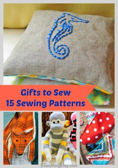 Handmade Gifts to Sew–15 Sewing Patterns - EverythingEtsy.com  #sewing patterns, #DIY gifts