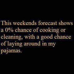 Looks like pajama weather coming ahead this weekend. #HappyAlohaFriday