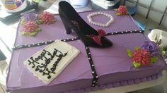 Girly shoe cake