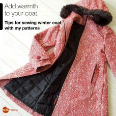 Add warmth to your coat. Tips for sewing winter coat with my patternsI really love to make winter coats and often add them quilted or faux fur materials. Recently, I was asked from many people how to make winter version of coats with my coat/jacket...
