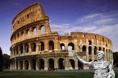 El colisseu és un amfiteatre de Roma que es va construir al segle I. Està situat just a l'est del Fòrum Romà, i va ser el més gran dels que es van construir a l'Imperi Romà. He volgut afegir un romà assenyalant el teatre.