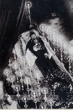 Gentleman with (many) candles – post mortem, memento mori NB: I'm told that this photo is of Ludwig II of Bavaria