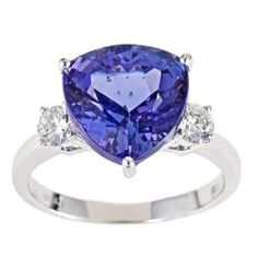D'Yach 14k White Gold Tanzanite and 2/5ct TDW Diamond Ring (G-H, I1-I2)