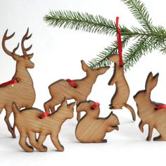 6piece Nordic Christmas Ornaments by Nordanlys on Etsy, kr120.00 / $22