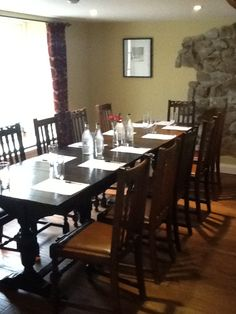 Private dining room for business meetings available at The Bell West Overton www.thebellwestoverton.com