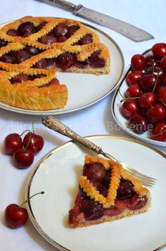 ITALIAN FOOD - CROSTATA DI CILIEGIE SENZA BURRO (NO BUTTER TART CHERRY)