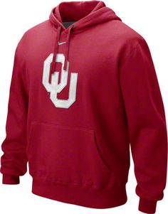 Oklahoma Sooners Nike Crimson Fleece Hooded Sweatshirt