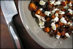 Roasted Sweet Potatoes with Balsamic Raisins, Rosemary and Goat Cheese...seriously delicious side dish