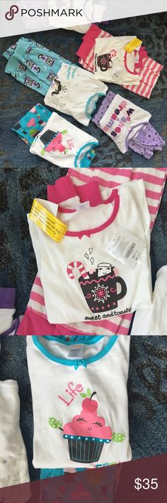"Gymboree Size 10 girls pajamas. NWT and new w/o tags.  My daughter outgrew these before ever worn.  The only exception is the lavender set ""wishes & dreams"" which she loved and is size 9. Gymboree Intimates & Sleepwear Pajamas"