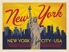 Anderson Design Group – American Travel – New York City: Horizontal Skyline