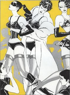 Illustration by Antonio Lopez (1943-1987), 1970's, Depeche Mode Magazine, fashion from Peter Pan & Emmanuelle Kahn (Erys). (6)