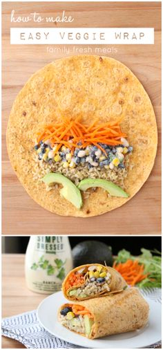 How to make an EASY RANCH FIESTA  WRAP - Healthy and YUMMY! -  FamilyFreshMeals.com - #spon #EverydayMarzetti