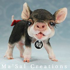 Ma Sal original / Special Dolly Friend - Miniature Pig /Direct from the Artist