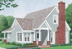 Country House Plan with 1302 Square Feet and 2 Bedrooms(s) from Dream Home Source | House Plan Code DHSW72439