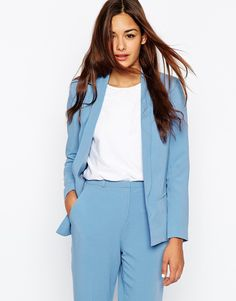 ASOS Jacket In Crepe With Lapel Detail