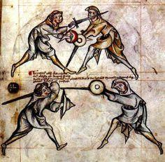 """Anonymous Fechtbuch: Manuscript I.33 - 13th century German Sword & Buckler Manual"" I33.jpg (109058 bytes)"