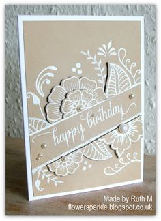 Back in 2014 I saw this lovely card made by Anja and the stamp set she'd used, 'Hennah Elements' from Altenew, went on my wish list immedia. Creative Birthday Cards, Handmade Birthday Cards, Creative Cards, Handmade Cards, Cool Cards, Diy Cards, Envelopes, Altenew Cards, Karten Diy