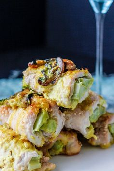 Turmeric broccoli chicken roll ups (AIP/Paleo)