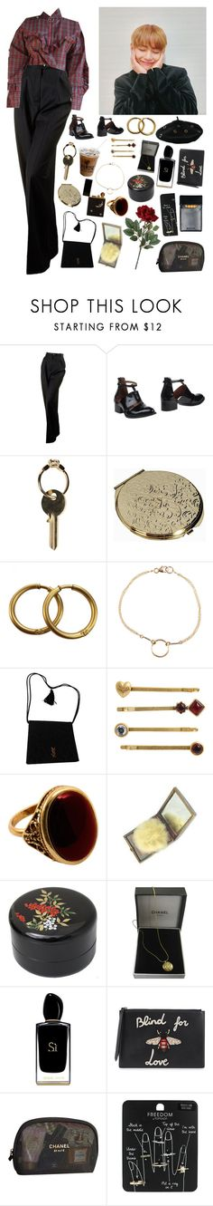 """""""Te quero"""" by kittykarina ❤ liked on Polyvore featuring Chanel, GET LOST, Jeffrey Campbell, Maison Margiela, Dogeared, Yves Saint Laurent, Juicy Couture, Rock 'N Rose, Nandina and Giorgio Armani"""