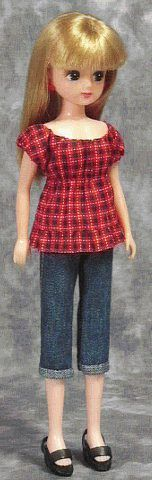 """How to make handmade clothes one piece smock style blouse """"Papupepo"""" of dress-up doll"""