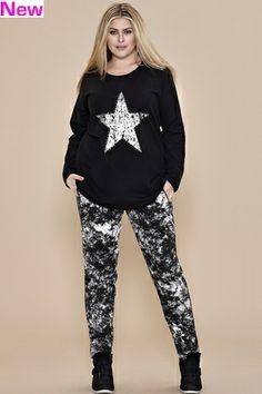 Broek Zhenzi jogging print::broeken::Grote maten - mode online | Gratis verzendig | Bagoes fashion
