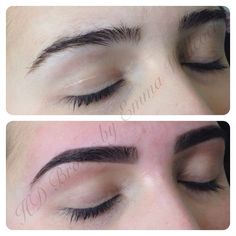 HD Brows by MASTER Stylist Emma Willcock. Before & after.