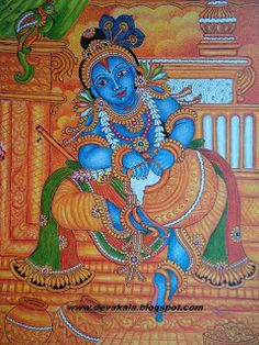 ദേവകല‌ ---- mural paintings: Krishna----Mural painting